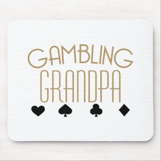 Gambling Grandpa Mouse Pad