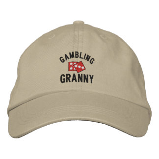 Gambling Granny Embroidered Hat