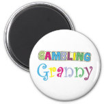 Gambling Granny T-shirts and Gifts. Fridge Magnet