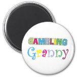 Gambling Granny T-shirts and Gifts. Fridge Magnet