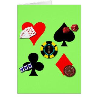 GAMBLING ICONS CARD