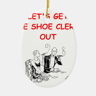 gambling joke Double-Sided oval ceramic christmas ornament