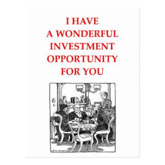 gambling joke postcard