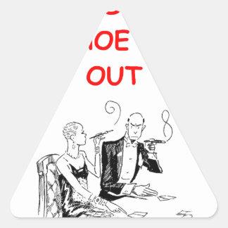 gambling joke triangle stickers