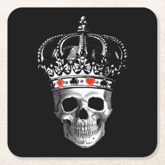 Gambling King Square Paper Coaster