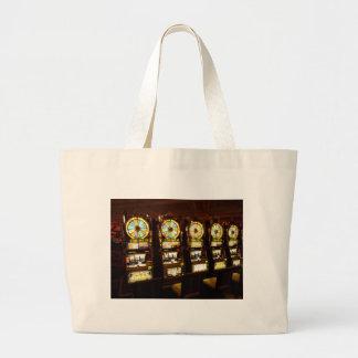Gambling Machine One Armed Bandit Money Las Vegas Jumbo Tote Bag