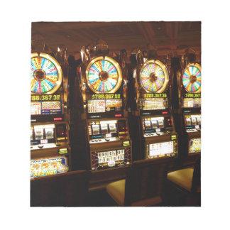Gambling Machine One Armed Bandit Money Las Vegas Notepad