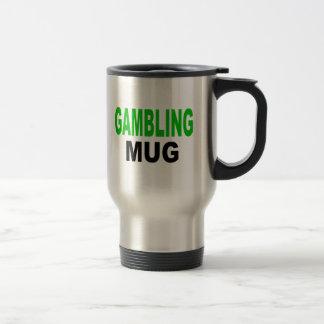 """Gambling Mug, mug gift, Text reads, """"GAMBLING MUG"""""""