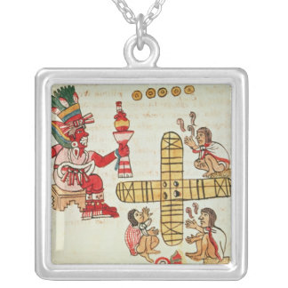 Gambling Patoli and the god Silver Plated Necklace