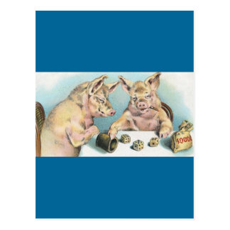 Gambling Pigs Postcards