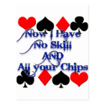 Gambling Poker Player Post Cards