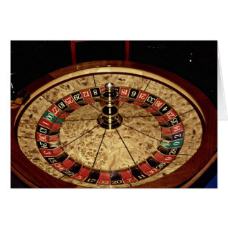 Gambling, roulette greeting card