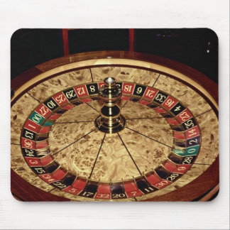 Gambling, roulette mouse pad