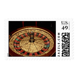Gambling, roulette postage stamps