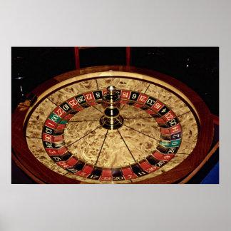 Gambling, roulette poster