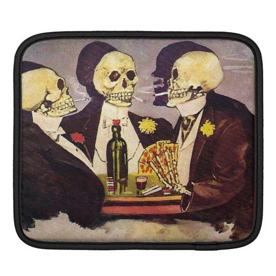 Gambling Skeletons iPad Sleeve