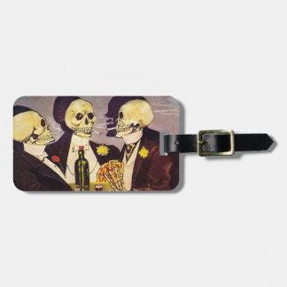 Gambling Skeletons Bag Tag