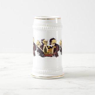 Gambling Skeletons 18 Oz Beer Stein