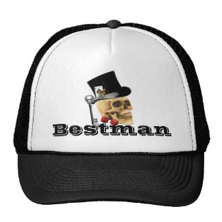 Gambling skull bestman trucker hat