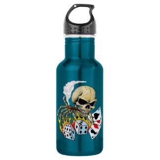 Gambling Skull Water Bottle