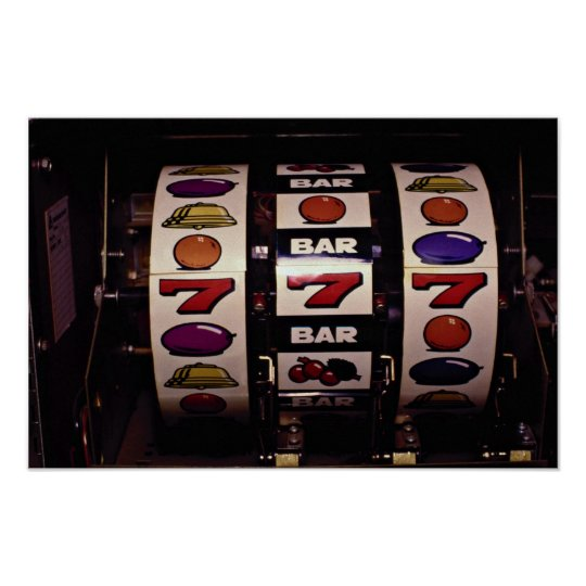 Gambling, slot machines poster