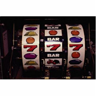 Gambling, slot machines standing photo sculpture