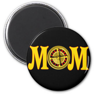 Gambling T-shirts and Gifts For Mom 2 Inch Round Magnet
