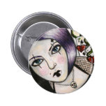 Gambling with Death badge Pinback Button