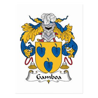 Gamboa Family Crest Postcard