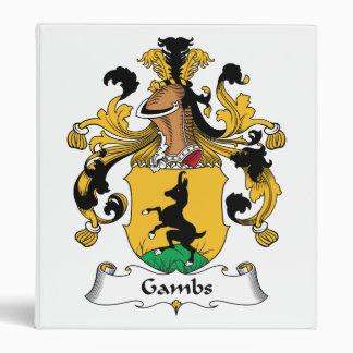 Gambs Family Crest Vinyl Binders