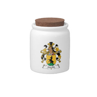 Gambs Family Crest Candy Jars