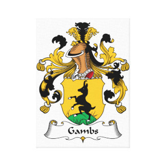 Gambs Family Crest Gallery Wrapped Canvas