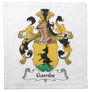 Gambs Family Crest Cloth Napkin
