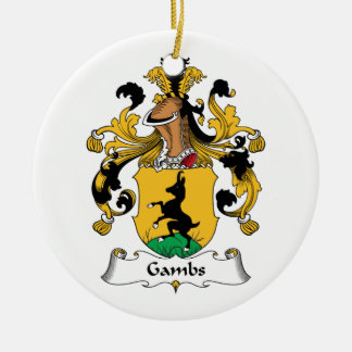 Gambs Family Crest Christmas Tree Ornament