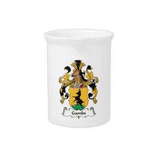 Gambs Family Crest Drink Pitcher