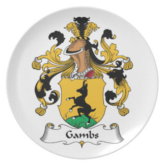 Gambs Family Crest Party Plates