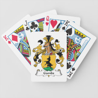 Gambs Family Crest Bicycle Poker Cards