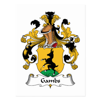 Gambs Family Crest Postcards
