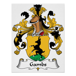 Gambs Family Crest Print