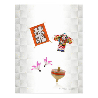 Game accessories for Japanese new year Postcard