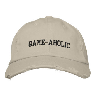 Game-Aholic Cap Embroidered Baseball Caps