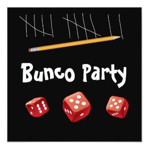 And Bunco Dice Invitation