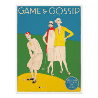 Game And Gossip - Vintage 1920's Golf Print
