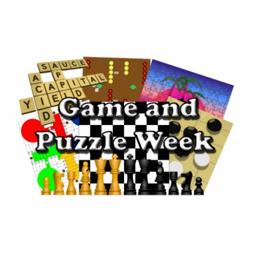 Game and Puzzle Week Acrylic Cut Out