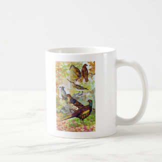 Game Birds 1902 True Stone Chromolithograph Coffee Mug