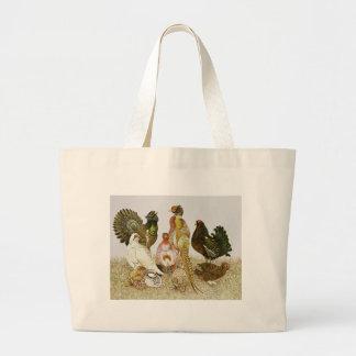 Game Birds Large Tote Bag