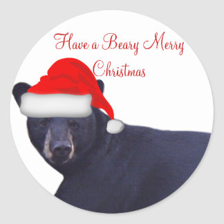 Game Cam Caught a Bear Wearing a Santa Hat Sticker