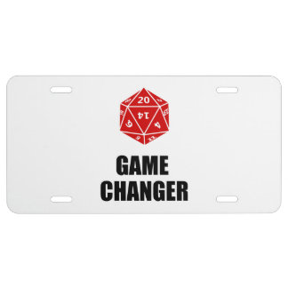 Game Changer License Plate