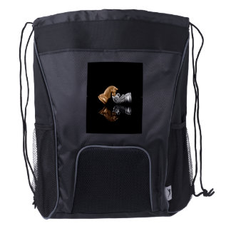Game Chess Play Drawstring Backpack