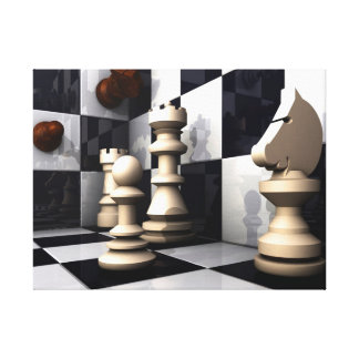 Game Chess Style Canvas Print